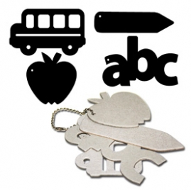Chipboard keychains