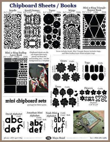 Pg2 CHA-W09 - Chipboard Books and Sheets