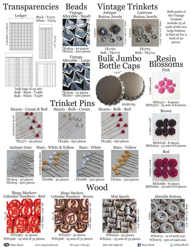 3F - Trinkets & Transparencies & Wood & Resin