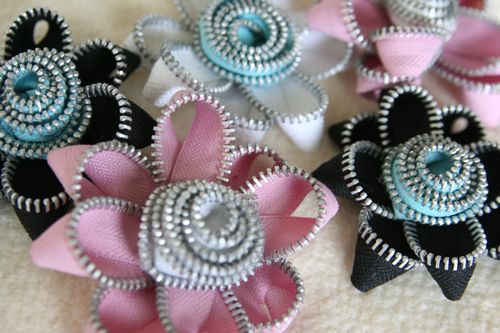Zipper Trim Flowers