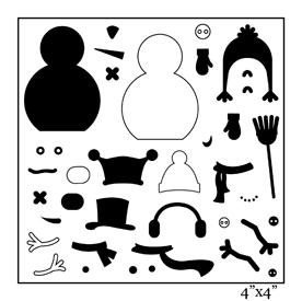 SMP1880 - Build a Snowman Stamp Sheet