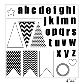 SMP1888 - Love Banner Stamp Sheet