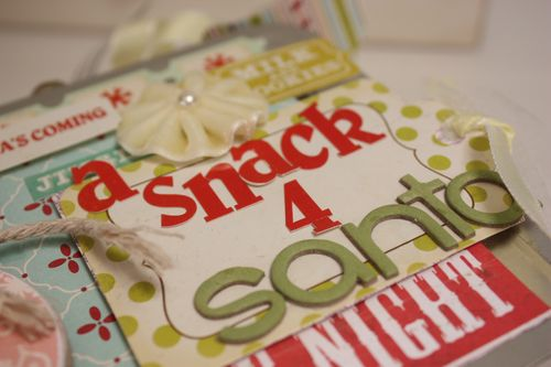 Close up of santa snack box