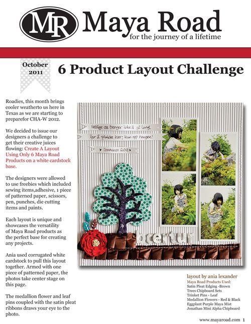 Maya Road October Challenge Page1