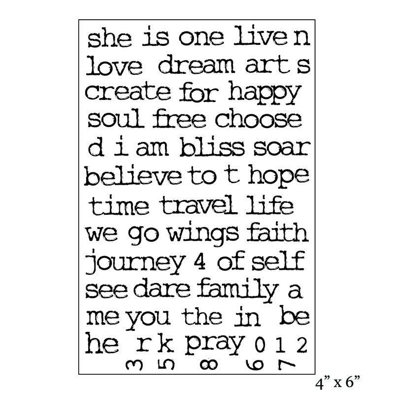 SMP1998 - Art Journaling Words Stamp Set