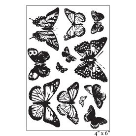 SMP2060 - Ornate Vintage Butterflies Stamp Set