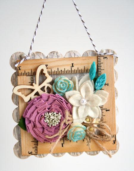 Ruler-frame-hanging-detail