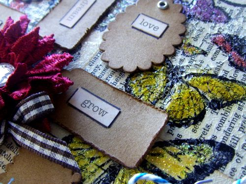 Mini Kraft Tags Close Up