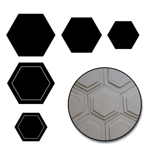 C2148 - Hexagons Chipboard Set