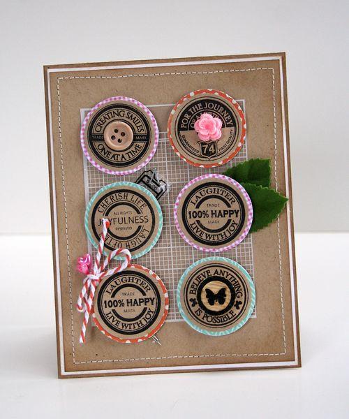 Stamped circle card