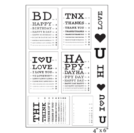SMP2061 - Eye Chart Sentiments Stamp Set