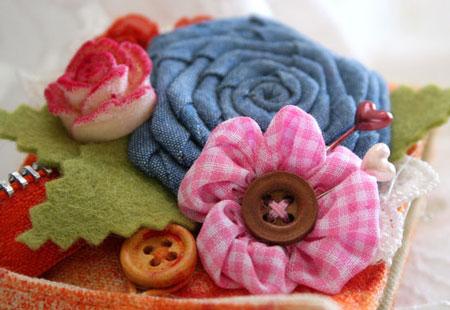 Canvas-cuff-flower-detail