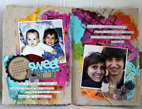 Ronda Palazzari The story of Us pages 6&7 2