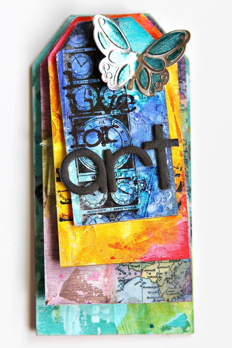 Ronda Palazzari I live for Art Tag Mini Album