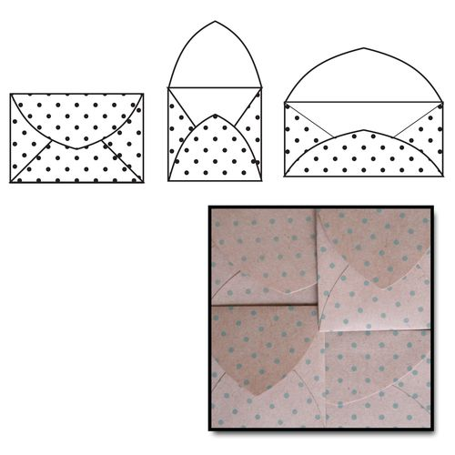 K2260 - Kraft Note Envelopes - Slate Polka Dot