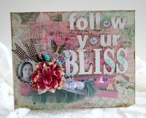 Shabby bliss canvas