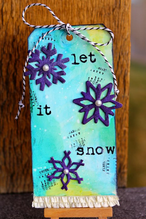 Ronda Palazzari Let it Snow Tag