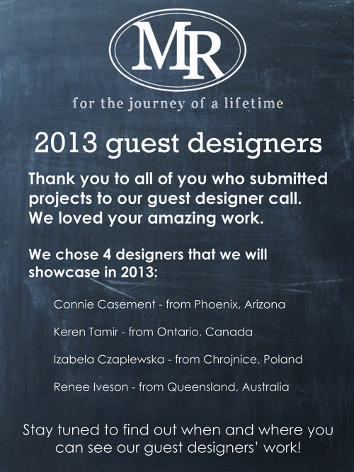 2013 Guest Designers