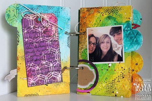 Ronda Palazzari Captured Mini Album pg 1