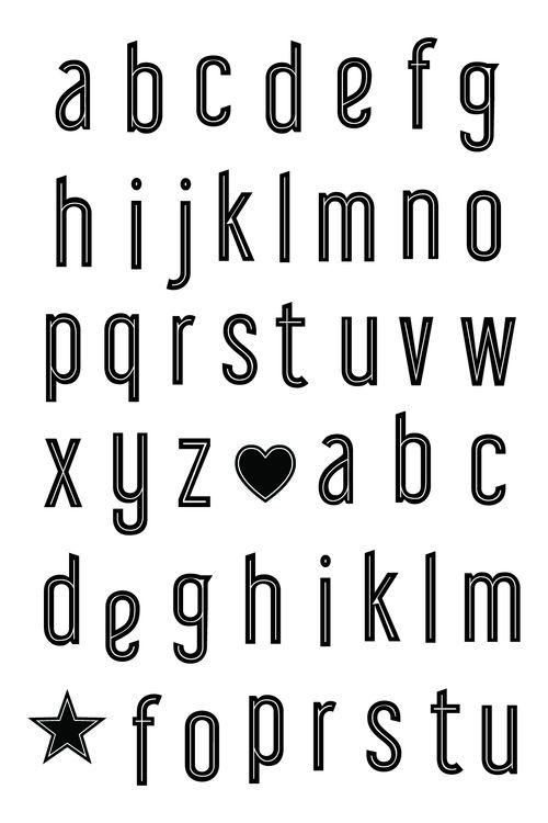 Metro LC alphabet s