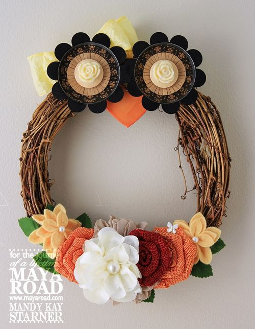 Fall Owl Wreath | Easy Fall Door Decorations You Can DIY on a Budget | fall door decorations | fall door wreath