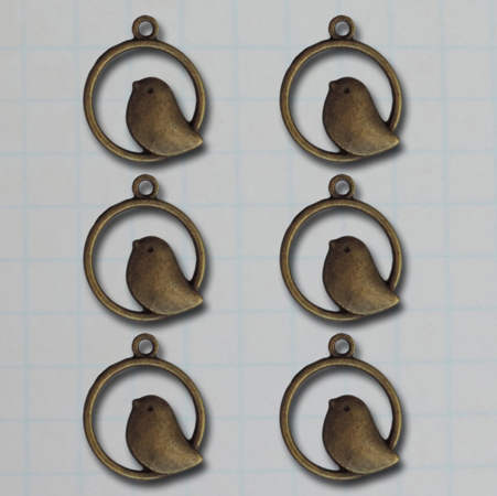 VF2663 - Bird in Circle Charms