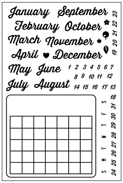 SMP2666 - Forever Yours Calendar Stamp Set