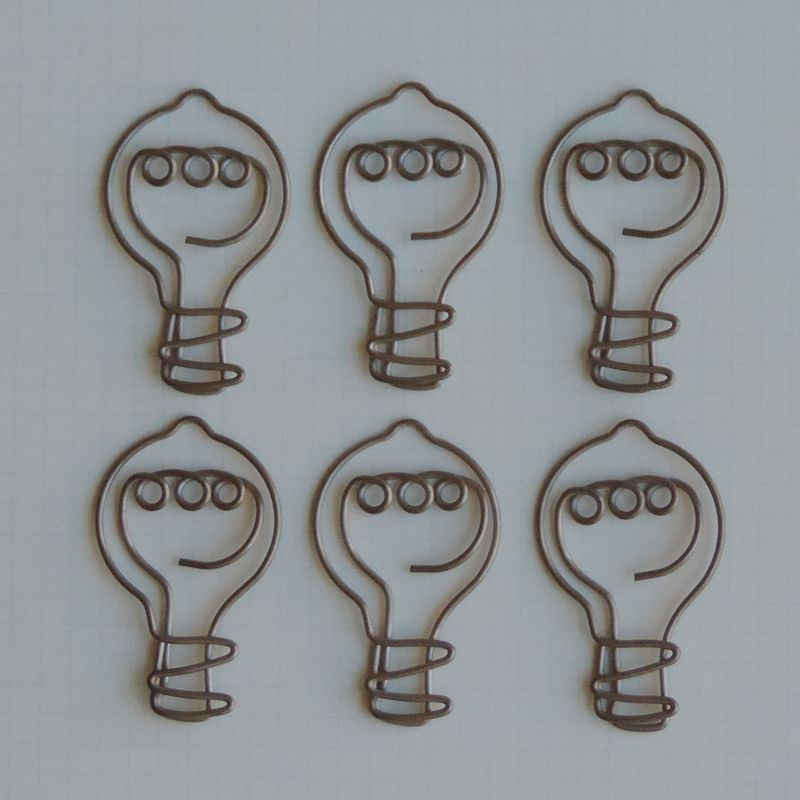 MVT2653 - Metal Vintage Trinket - Eureka Light Bulb Clips