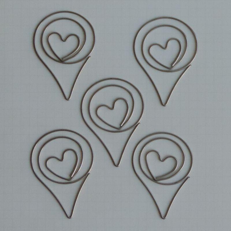 MVT2680 - Metal Vintage Trinkets - Geo Tag Love Clips