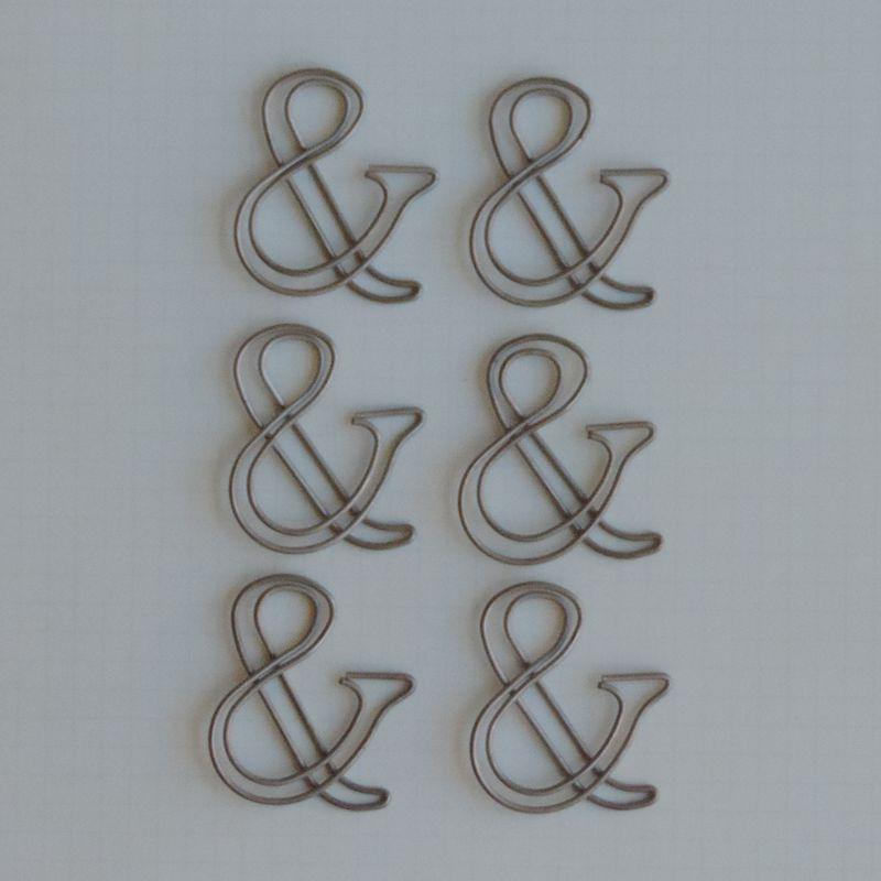 MVT2655 - Metal Vintage Trinkets - Classic Ampersand Clips