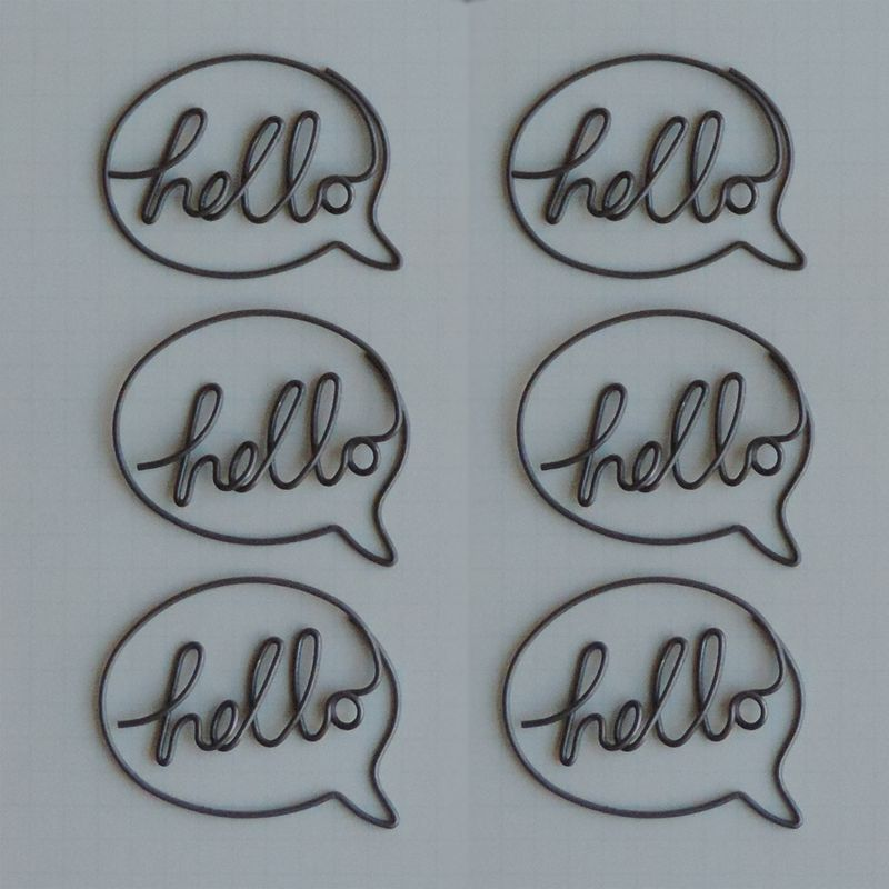 MVT2684 - Metal Vintage Trinkets - Hello Speech Bubble  Clips