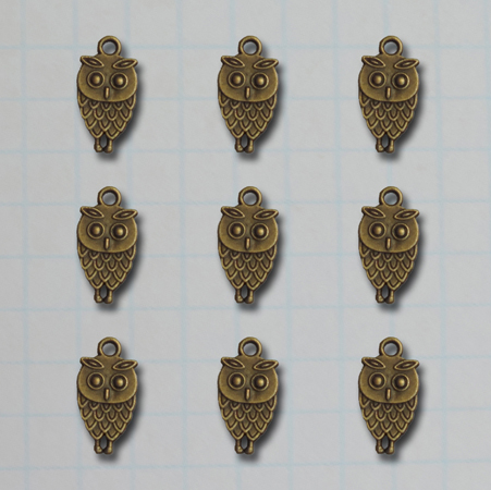 VF2660 - Vintage What A Hoot Owl Charms