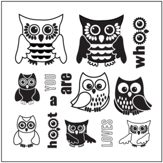 SMP2747 - Whoo Loves you Stamp Sheet