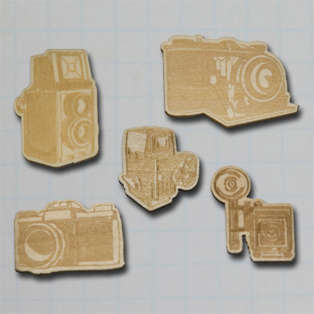 WD2733 - Vintage Wood Camera Pieces