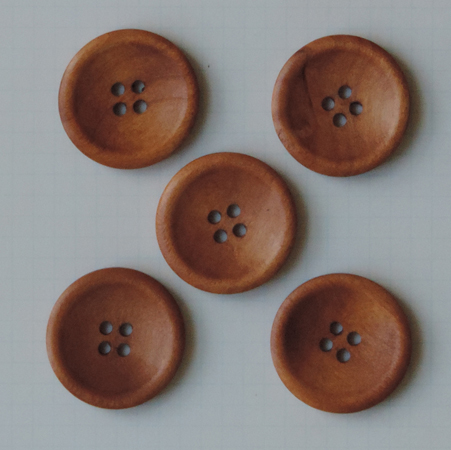WD2711 - Vintage Stained Wood Buttons