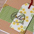 Flower hello tag card close up by Kimberly Crawford