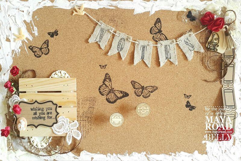 Cork Notes Board - Maya Road - Belly Lau - Papercraft Buffet - Photo 1