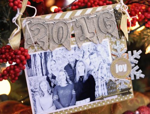 Jana Eubank Maya Road 2016 Family Christmas Ornament 3