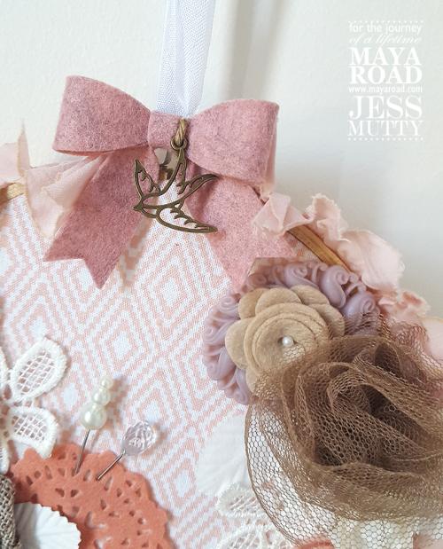 Pink Wall Hanging detail1_Jess Mutty_Maya Road