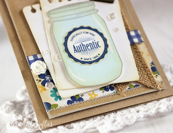 Mason Jar Love Homespun Card by Laurie Schmidlin guest designing for Maya Road