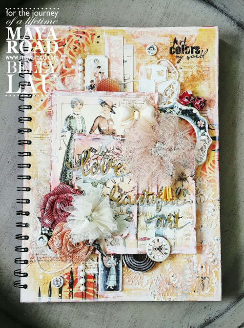 Love beautiful art journal cover - belly lau - papercraft buffet - maya road - photo 1