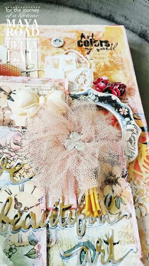 Love beautiful art journal cover - belly lau - papercraft buffet - maya road - photo 6