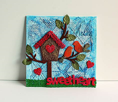 Sweetheart mixed media canvas