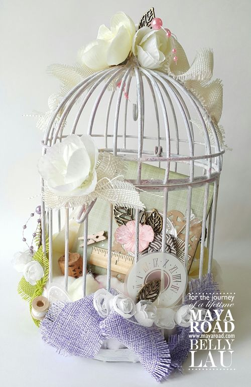 Altered Bird Cage Mini Album - Belly Lau - Maya Road - 1