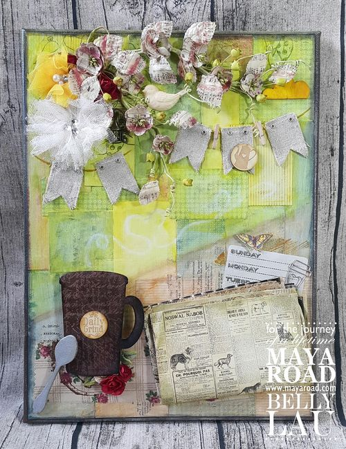 The Daily Grind - Mixed Media Canvas - Maya Road - Belly Lau - Papercraft Buffet - Photo 1