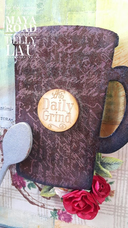 The Daily Grind - Mixed Media Canvas - Maya Road - Belly Lau - Papercraft Buffet - Photo 8