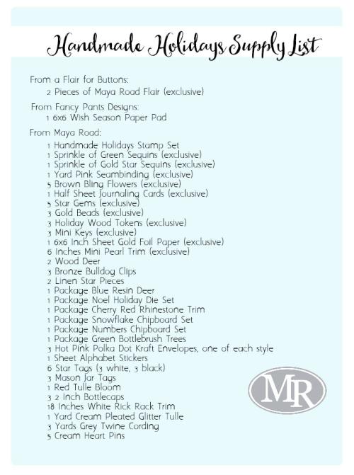 Handmade-holidays-supply-list